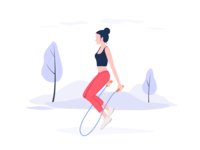 Illustration——Skipping Rope