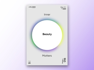Inner Beauty Matters illustrator modern photoshop illustration vibrent typography poster art poster a day poster gradiant