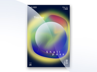 This too shall pass design art style photoshop modern typography poster a day illustrator gradiant poster art designer chfayzi poster new design