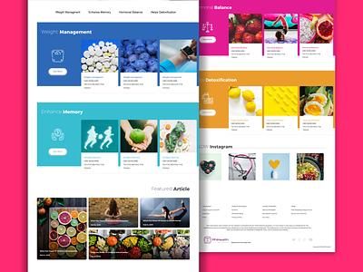 Blog design for phihealth clean minimal medicine health ui design