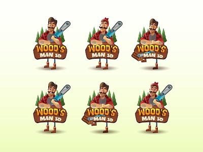 WOODS MAN gamedesign icon design illustration game ux