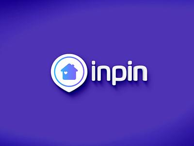 Inpin logo application inpin start up logodesainer logo design startup logo startup branding logo