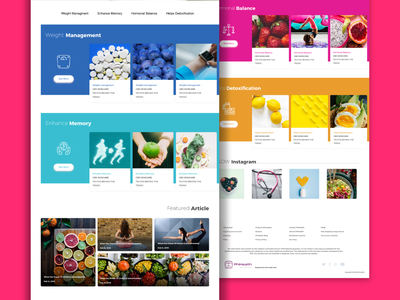 blog design for Phihealth web design website web minimal medicine layout interfacedesign interface health dribbble creative design clean blog design blog