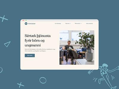 Klettabaer product app ui ux website design branding illustration