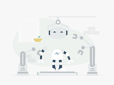 1. Build your chatbot branding flat website shop robot product illustration ecommerce design chatbot