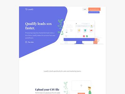 Qualify leads 10x faster logo app typography sync ui ux flat website design branding product illustration
