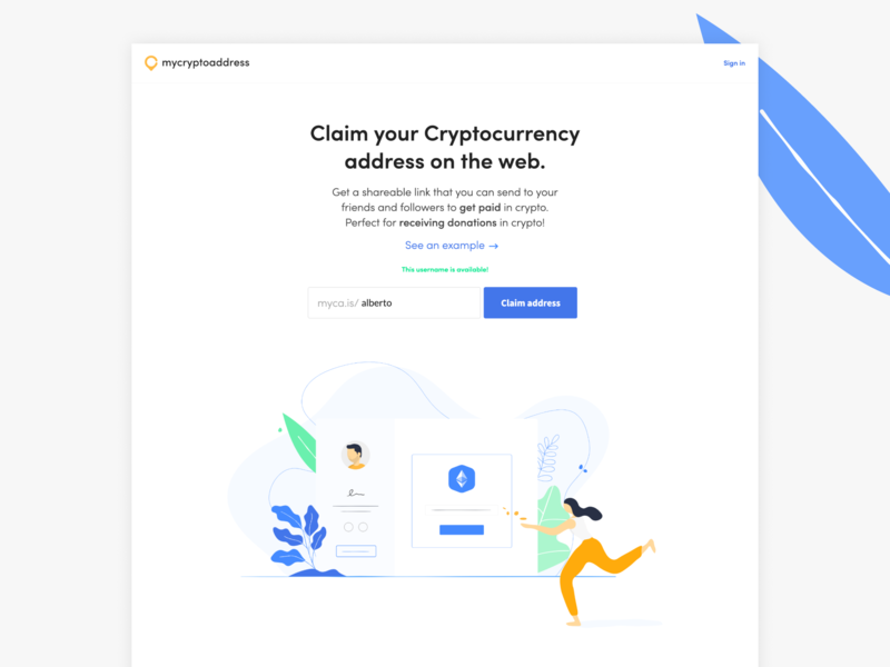 Claim your Cryptocurrency address on the web. ready app ui ux flat ecommerce website design illustration branding crypto currency crypto