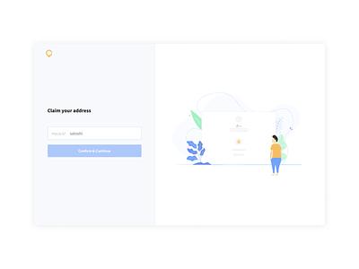 1. Choosing your address website vector app ui ux branding design illustration crypto currency