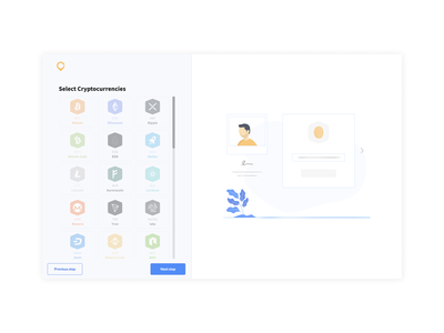 3. select your cryptocurrencies crypto ui ux design website illustration