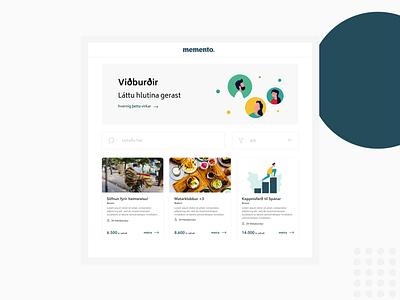Memento Payments product app ux ui website design branding illustration