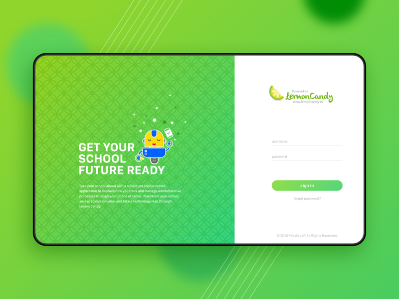 LemonCandy login screen login design login login screen dashboard ui illustrations art colours app branding creativity illustration ui ux design