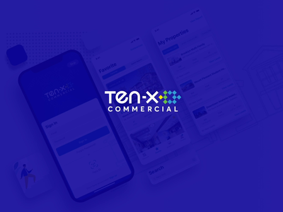 Ten-X  iOS mobile app animation blue realestateapp realestate ios app thoughts mobile typography creativity colours branding illustration ui ux design