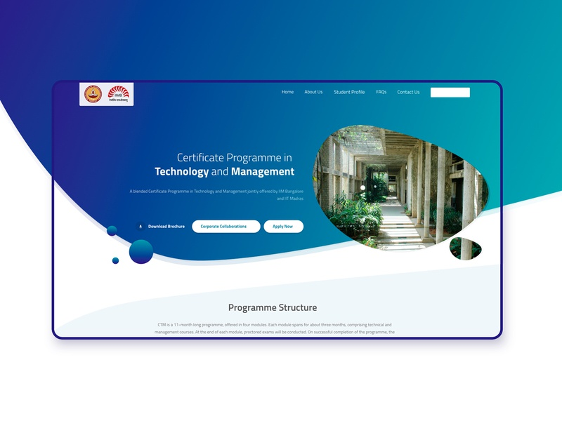 CTM website (IIM Bangalore) sketchapp graphicdesigner interface webdesigner illustrator userexperience designer appdesign application app design typography mobile illustrations designs creativity branding illustration ux ui design