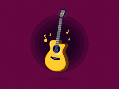 Guitar music guitar colours ui ux creativity design thoughts leisureart illustrations