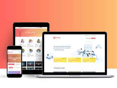 CourseCube Website Design creations designs illustration visuals ui ux websitedesign