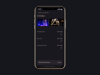 Booking lounge – order drinks