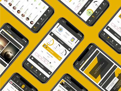 Bookbreakrs football predictions app yellow betting ux ui soccer app mobile app statistics sport score bookmakers bets prediction app football bookbreakrs
