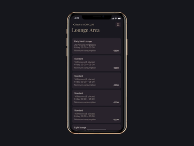 lounge booking process app interaction dinarys