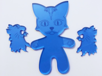 Laser cut character designs