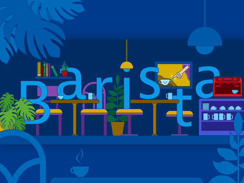 "Illustration for our design system ""Barista"" flat designsystem illustration system ui ux botanical plants barista coffeeshop coffee vector design"