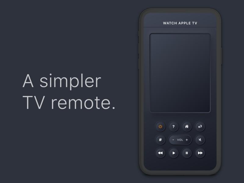 A simpler TV Remote neumorphism buttons remote tv mobile ui mobile app design ios