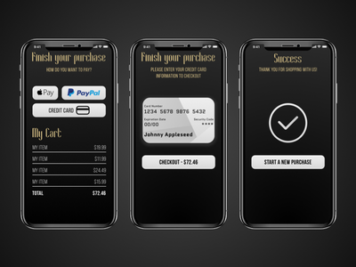Daily UI 002 sketch checkout ui ios purchase credit card daily ui