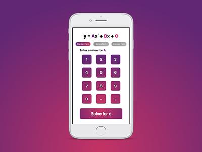 Daily UI 004 app design math daily ui quadratic calculator ios