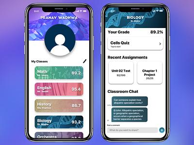 Classroom App biology classroom debut ios design school app school ios