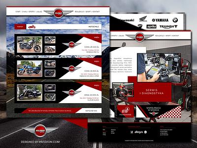 🛵 Kujawa Motor - Motorbikes, Scooters, Quads Website websites motorsport motor moto website concept black red white road quad scooter motorcycle motorbike branding ui design web web design webdesign website