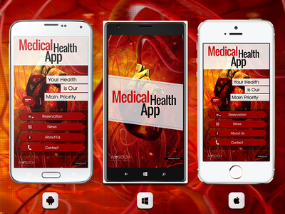 📱 Medical Health Mobile App With Animated UI