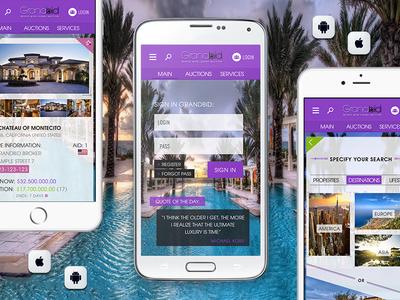 📱 Internacional Luxury Auction - Android & iOS Mobile App