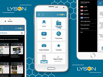 📱 Lyson Android & iOS Mobile App UI