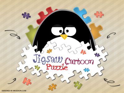 😊 Jigsaw Cartoon Puzzle - Mobile App Logo [ Android & iOS ] jigsaw puzzle children cartoon kids app apps puzzle logo android mobile app penguin ios