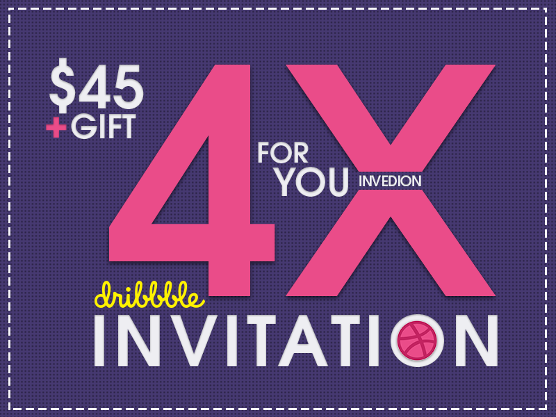 🎟️ 4x Dribbble Invitation With Free GIFT invitation invite invites gift ux dribbble ios android mobile apps ui iphone ipad