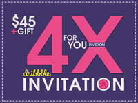 🎟️ 4x Dribbble Invitation With Free GIFT