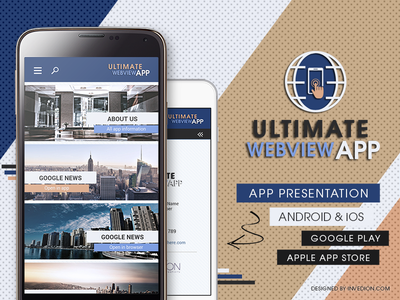 📱 Ultimate Webview App Android & iOS [web to app] website web android ipad shop business invites invitation ios ecommerce news mobile app