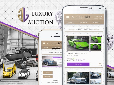 💰 Internacional Luxury Auction - Android And iOS Mobile App gold luxury animation design web ios android branding ux ui logo app