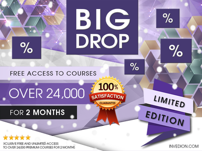📢 2 Free Months of Premium Access to 24,000 Courses flat ux branding icon app web typorgraphy logo vector animation mobile app promotion discount promo ui illustration design free invitation invites