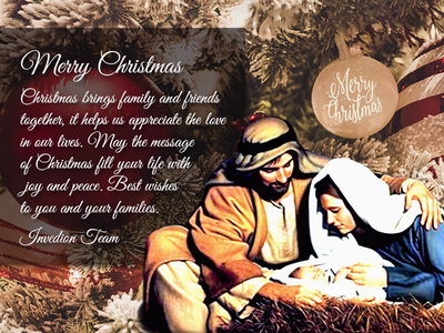 Merry Christmas From The Invedion Team invites invitation god blessing new life dribbble christmas eve jesus christmas tree christmas card illustration team wishes love family jesus christ christmas merry christmas