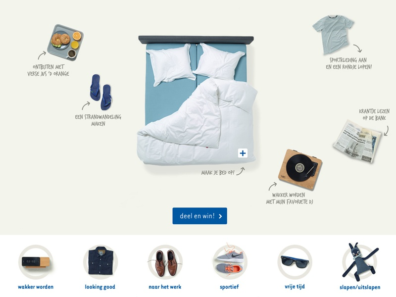 Auping campaign share interactive campaign bed auping