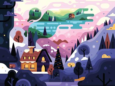 'Tis the season vector illustrator illustration graphic design drawing christmas winter 2d