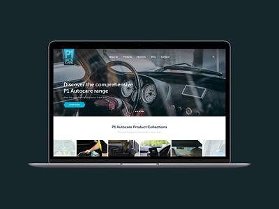 P1 product ux website car autocare web web design design ui