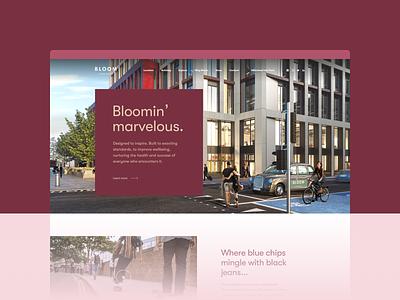 Bloom Clerkenwell development design user interface ux ui web design webdesign web website