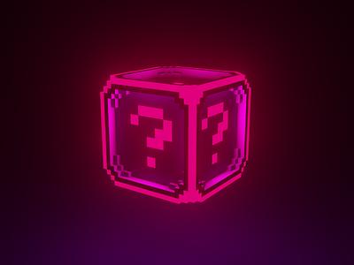 Q dark illustration voxelart 3d question mark pixel pink magenta blue violet purple what random question voxel