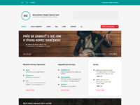 Isic redesignconcept homepage