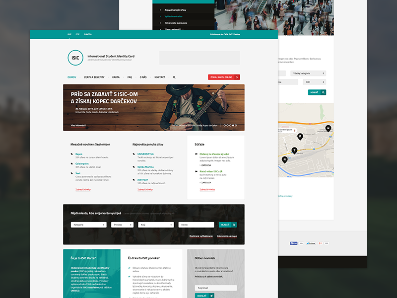 ISICsk Redesign Concept isic redesign concept itic eyca euro26 web website student photoshop