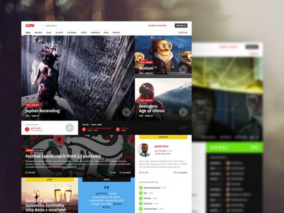 CSFD Website Redesign Concept