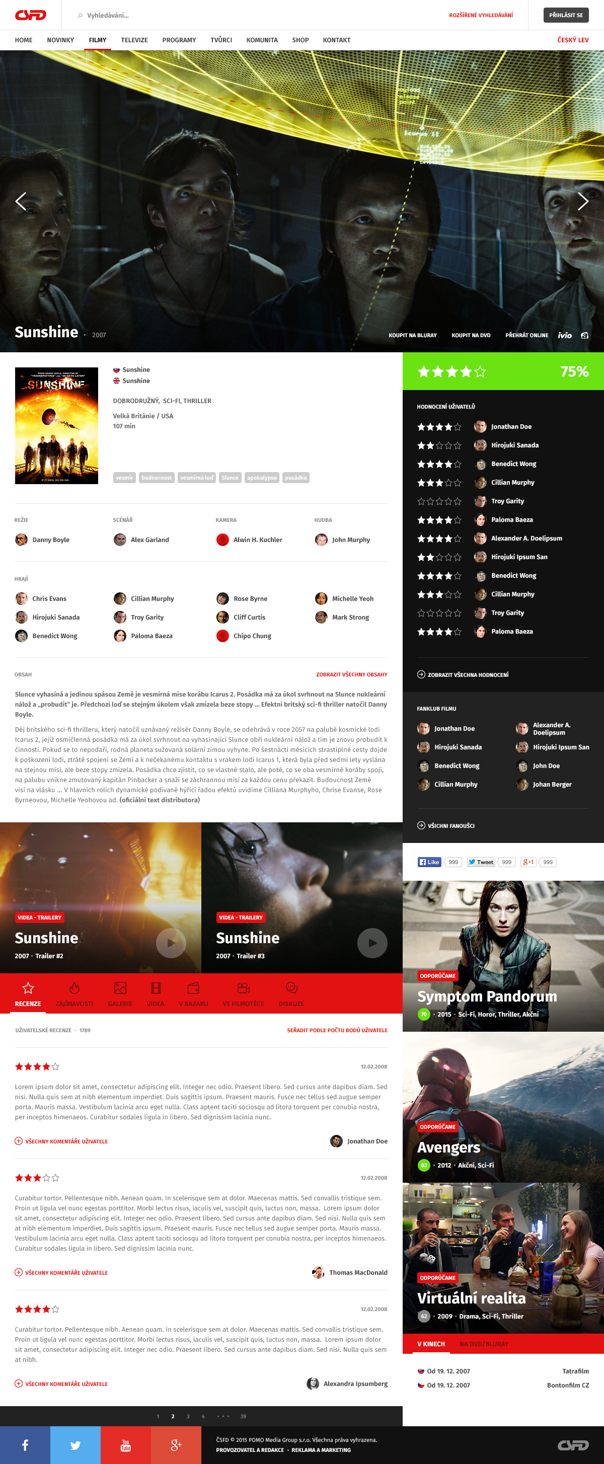 Csfd redesign movie review