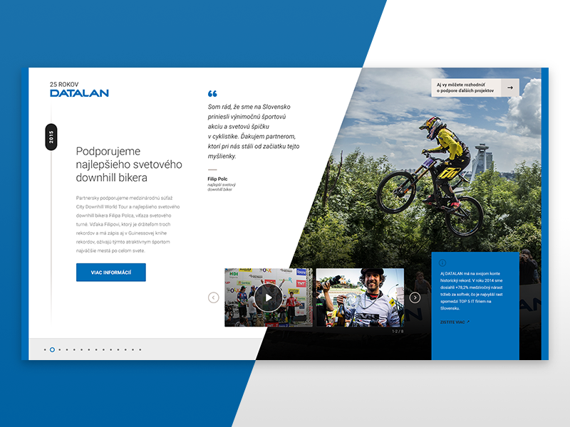 25 Years of Datalan, Project Detail quote about biker gallery timeline detail project
