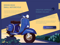 Roman Holiday-motorcycle-illustration